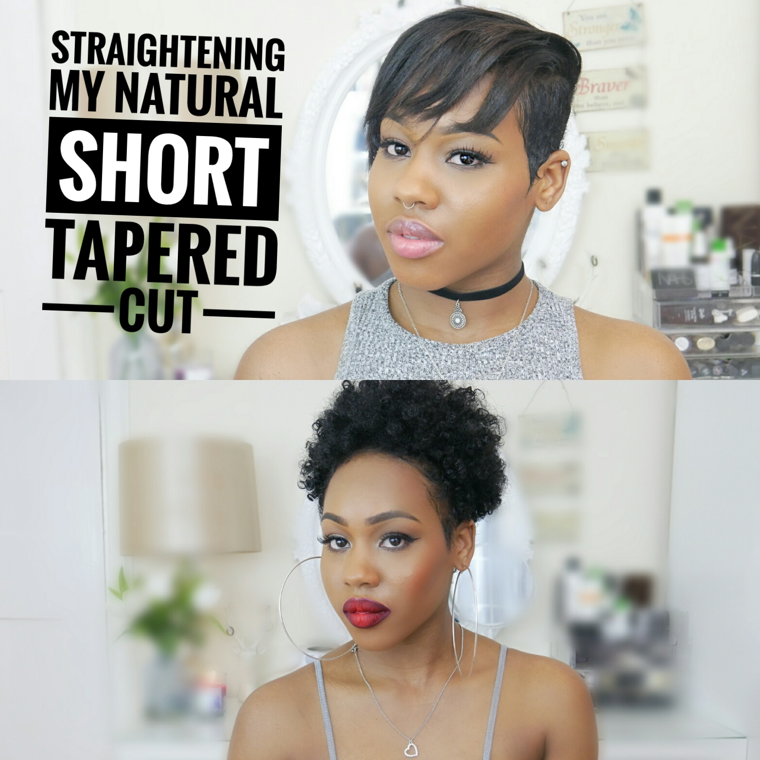Curly To Straight How I Straighten My Short Tapered Cut Queen Teshna