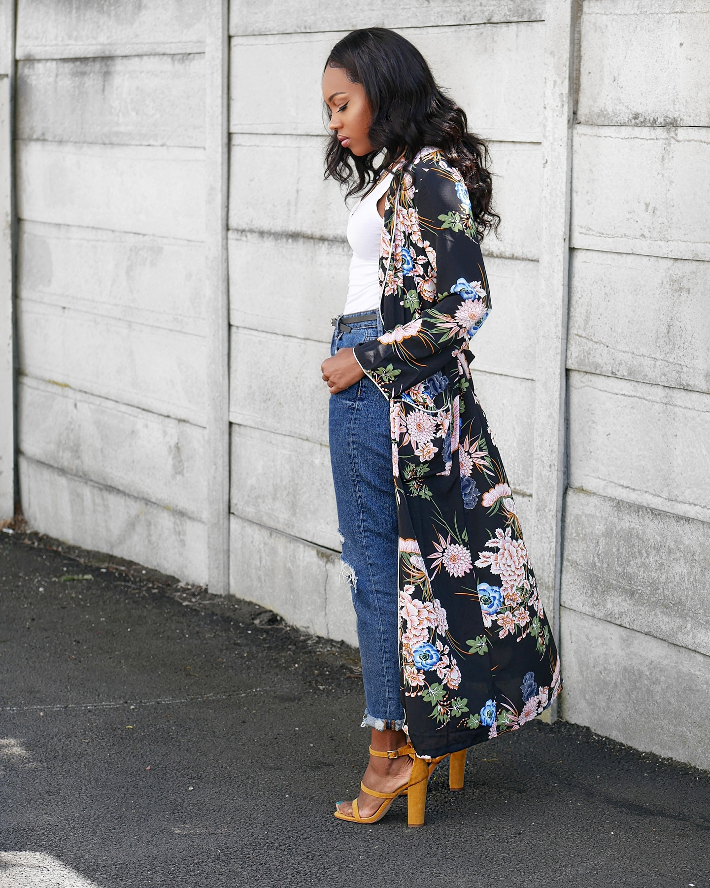 How To Wear A Floral Kimono