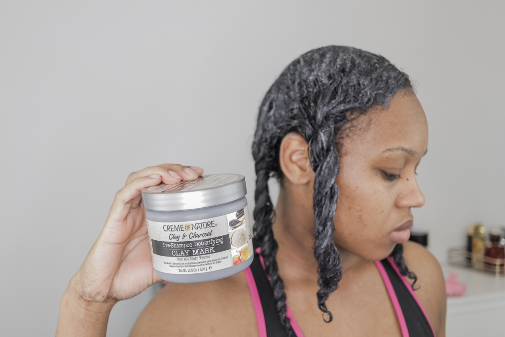 creme of nature pre shampoo detoxifying clay mask ingredients