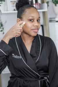 nighttime skincare routine for moisturised skin