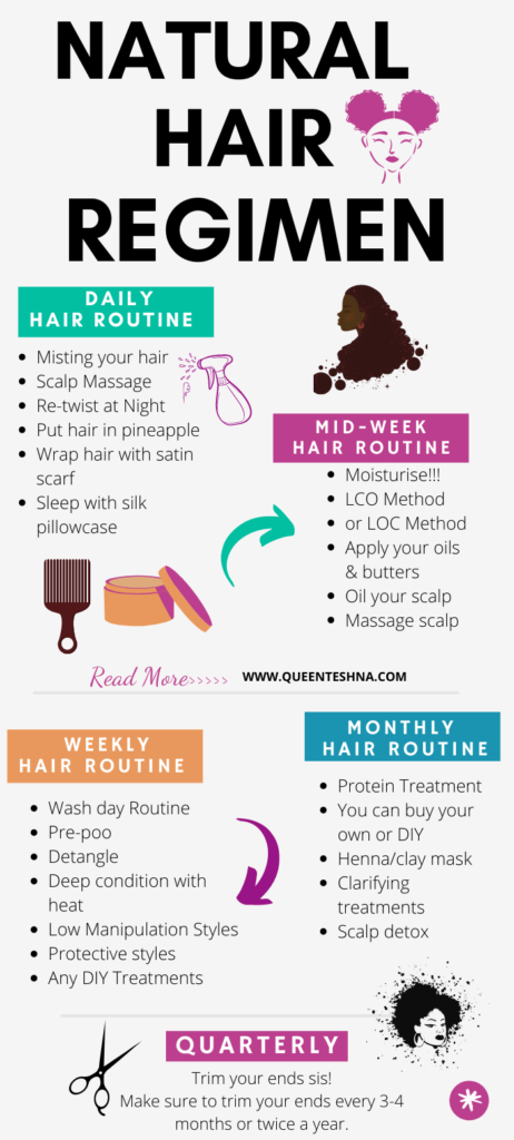 Step by step natural hair routine for beginners