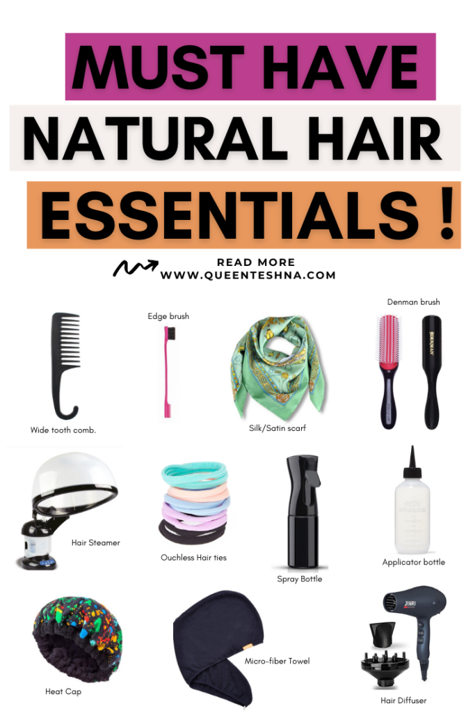 Natural hair essentials tools for all hair types